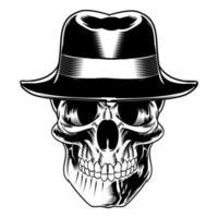 ilustração de caveira isolada para logotipo e elemento de marca vetor