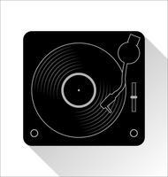 disco de vinil registro ilustração em vetor conceito plana simples