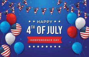 4 de julho dia da independência vetor