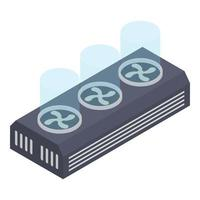 conceitos de ventilador do processador vetor
