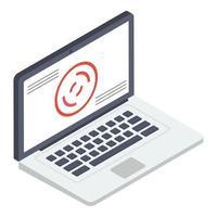 conceitos de laptop pessoal vetor