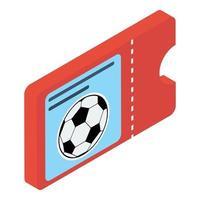 ingresso jogo de futebol vetor