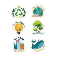 sem adesivo de campanha de plástico vetor
