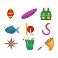ícone de pesca de verão vetor