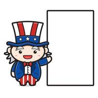 desenho antigo comemorando o dia da independência dos Estados Unidos vetor