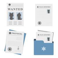 conjunto de arquivos de documentos policiais vetor