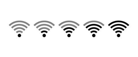 ícone de conjunto de wi-fi, conjunto de diferentes ícones sem fio e wi-fi. ilustração vetorial. vetor