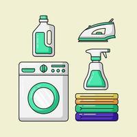 produtos de serviço de lavanderia vetor