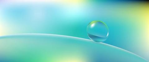 esfera de água em superfície lisa vetor