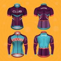 camiseta de ciclismo atlético vetor