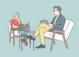entrevista ou transmissão com uma pessoa famosa. colaboração de rede de mídia social masculina e feminina. vetor