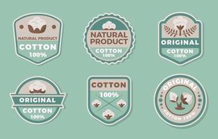 tecido de algodão orgânico natural não artificial vetor