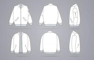 modelo de jaqueta branca de roupas vetor