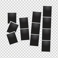 conceito de coleção de fotos polaroid vertical vetor