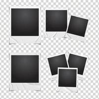 conceito de foto polaroid com vincos brancos vetor