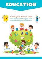 conceito de educação com crianças vetor