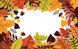 folhas de outono fundo de borda vetor