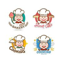 design de etiquetas de pães e padarias doces para confeitaria vetor