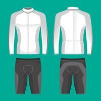 Maquete de camisetas de ciclismo para roupas de ciclista vetor