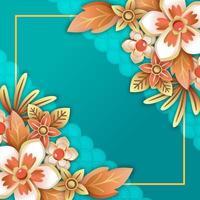 flor florescendo de luxo premium branco dourado vetor