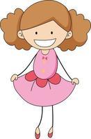 personagem de desenho animado bonito desenhado à mão estilo doodle isolado vetor