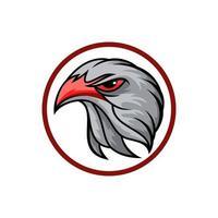 logotipo da cabeça de águia vetor