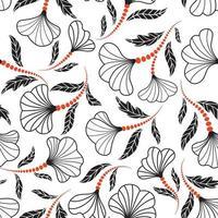 padrão floral sem emenda. fundo desenhado artístico da flor. florescer jardim ornamental vetor