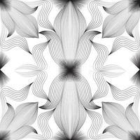 padrão sem emenda de linha ornamental abstrata. padrões geométricos sem costura. projeto gráfico geométrico abstrato impressão padrão floral. ornamento com formas florais listradas para tecido, design de papel de embrulho de fundo. vetor