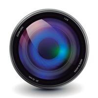 lente da câmera ótica vetor