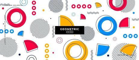 projeto de plano de fundo de formas geométricas. vetor