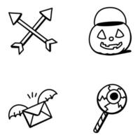 halloween e personagens assustadores vetor