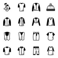 pacote de roupas elegantes vetor