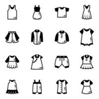 roupas e roupas de bebê vetor