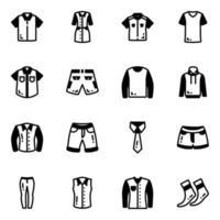 pacote de roupas vetor