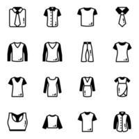 trajes e vestimentas vetor