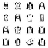 vestimenta e moda vetor