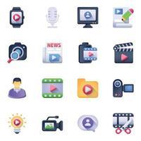 conjunto de marketing de vídeo vetor