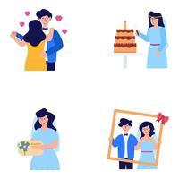maço de casais vetor