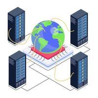 rede de servidores global vetor