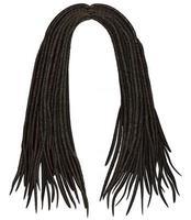 dreadlocks de cabelo comprido africano na moda. estilo de beleza de moda 3d realista. vetor