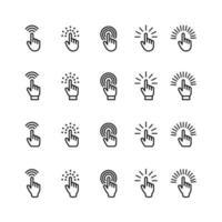 conjunto de ícones de cursor de mão do mouse vetor