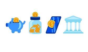 economize nosso dinheiro ilustração design vetor