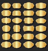 Promo venda rótulos coleção ouro e prata design