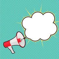 megafone com ilustração vetorial de balão de fala vetor
