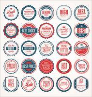 Retro vintage emblemas e etiquetas vector coleção