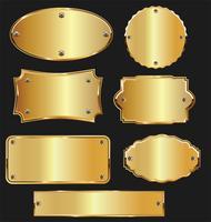 Coleção de ouro e prata venda rótulos retrô vintage design vetor