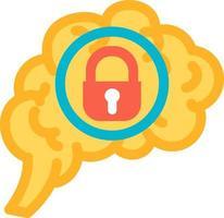 função introvertida do vetor ícone do cérebro humano