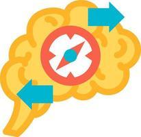 função do cérebro do vetor de ícone de solução de problema