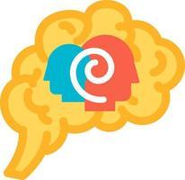 psicologia da função do vetor do ícone do cérebro humano