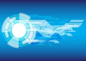 luz azul e branca. abstrato base de alta tecnologia. tela de tecnologia de realidade virtual. interface futurista vetor